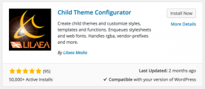 Directory Listing Image of the Child Theme Configurator Plugin