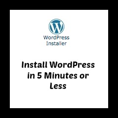 Screen grab of WordPress installer icon.