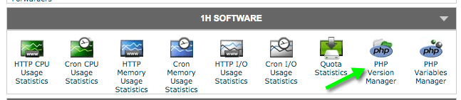 Screengrab of SiteGround Hosting cPanel 1H Software Section